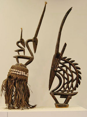 "Pair of Chi Wara ""masks"""