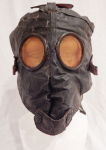 Pre WWII gas mask w accessorise