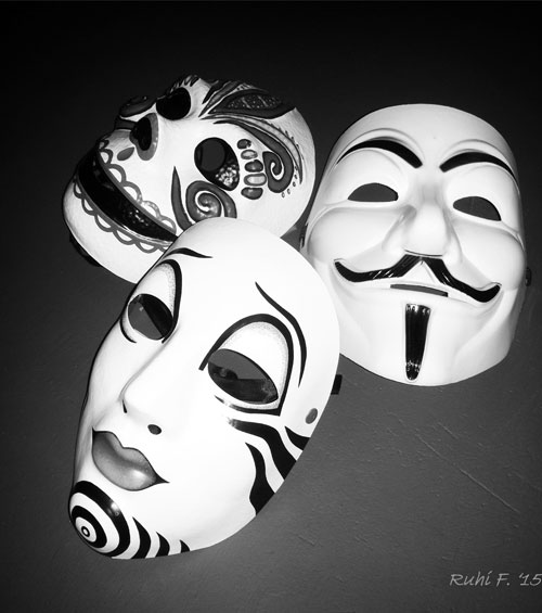 Little trio of masks