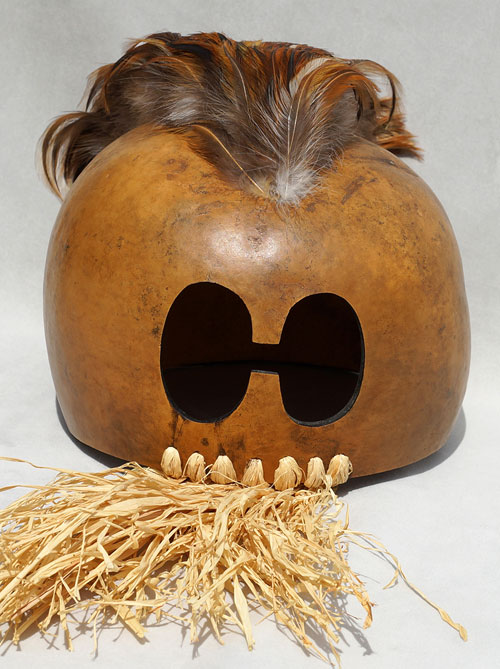 Hawaiian warrior's mask