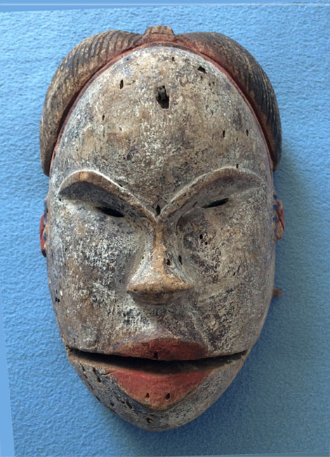 African mask with moving mouth