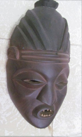 Asian mask for decor or memories