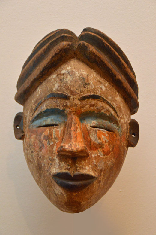 Punu mask from Gabon, West Africa