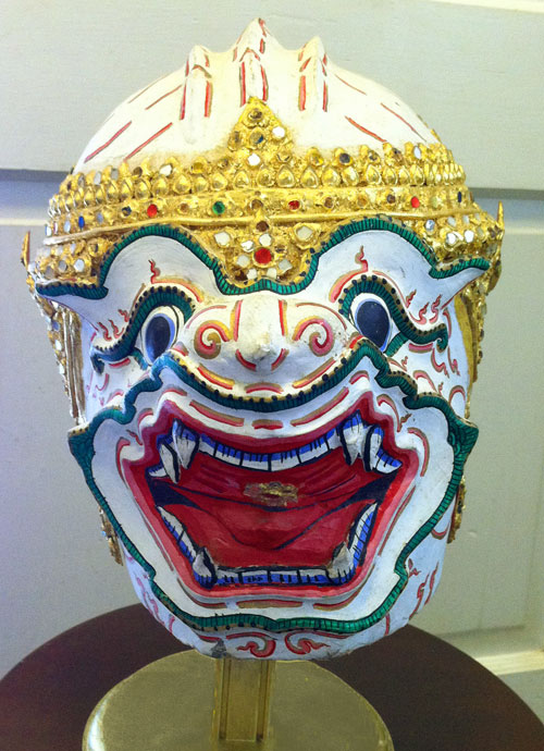 Khon mask for Thai dancers