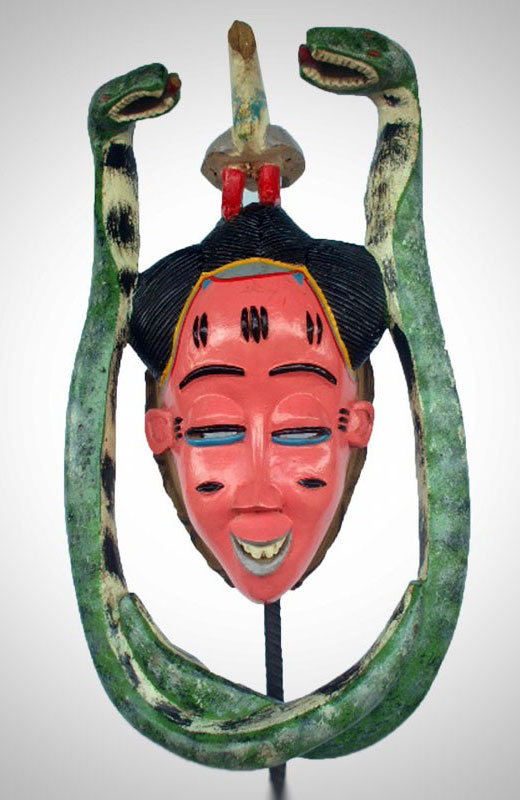 Colorful Zaouli mask