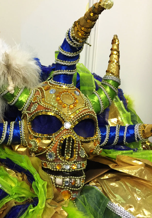 Elaborate Dominican masks