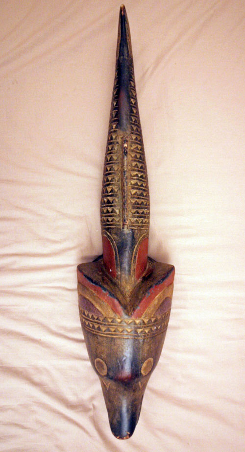 Unusual African fish mask