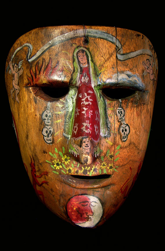 Highly decorated Mexican mask