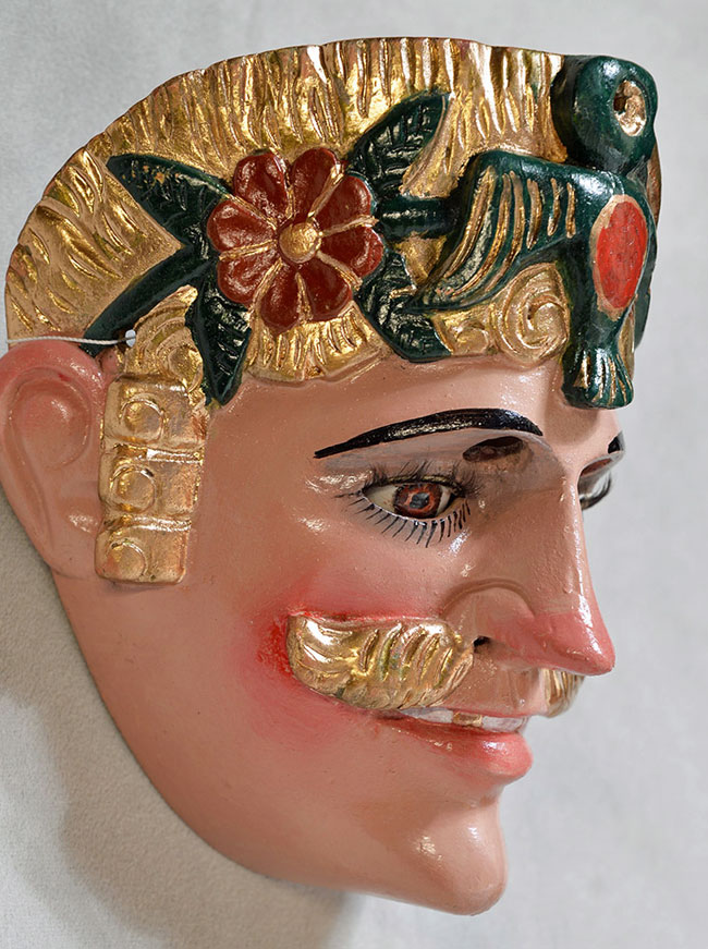 Mask, hat and costume from Guatemala