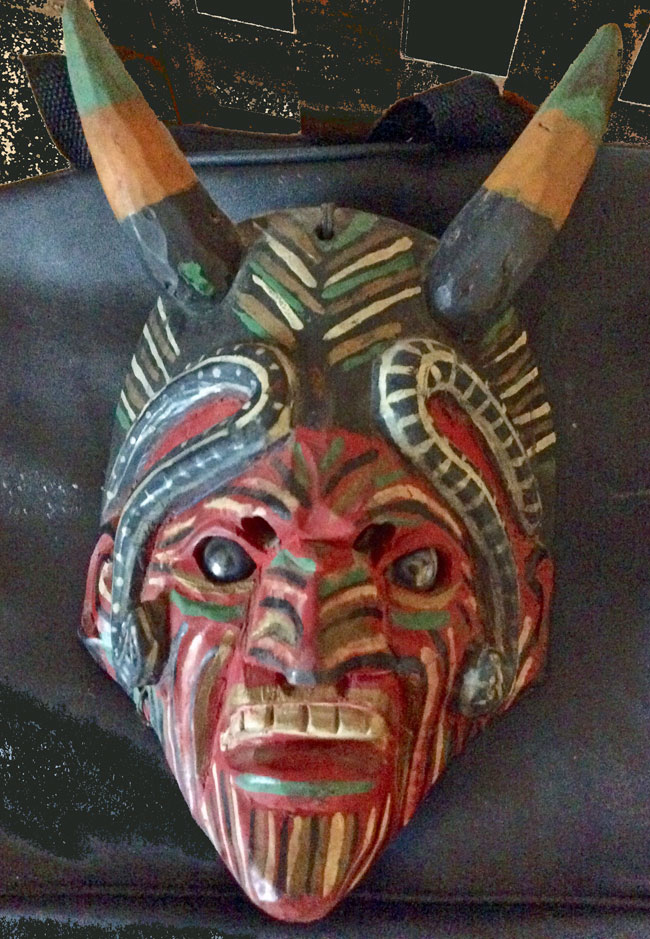 Devil mask from Guatemala
