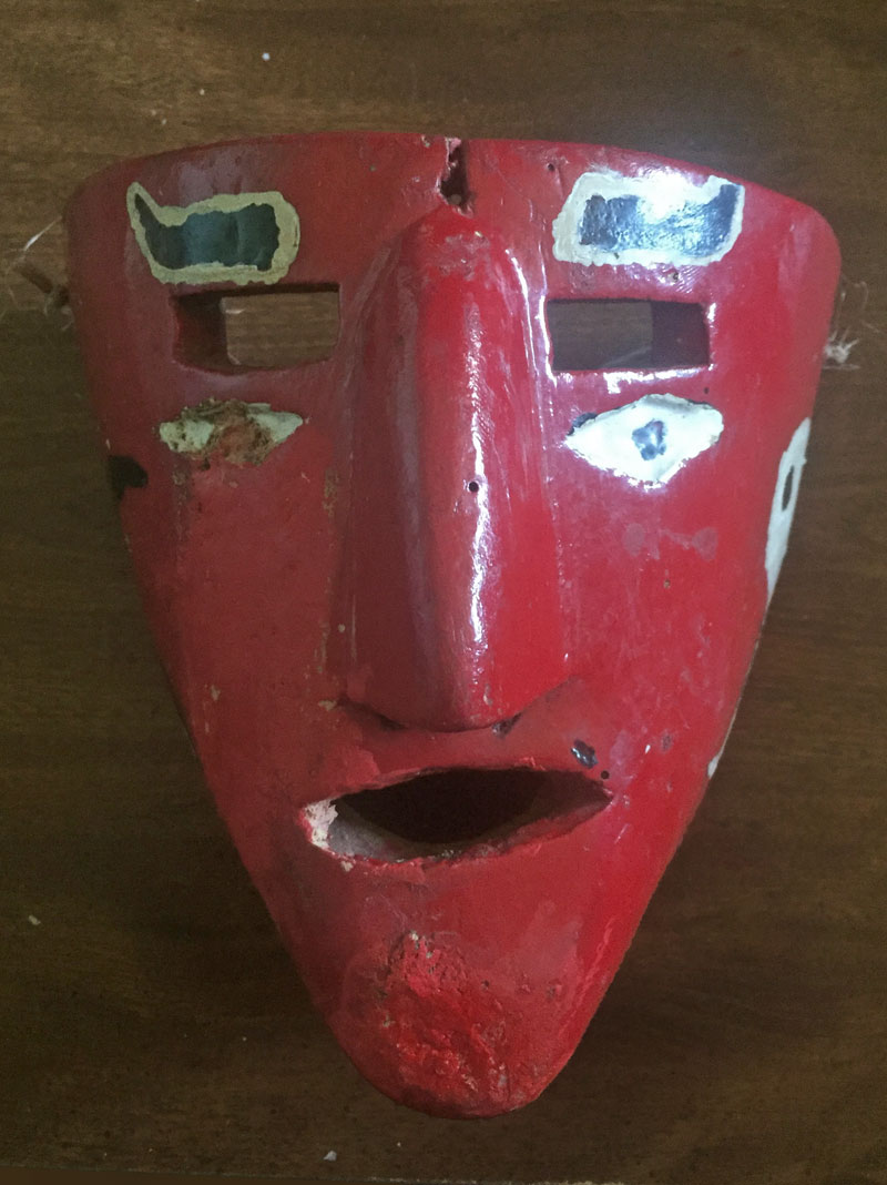 Old, used Mexican mask