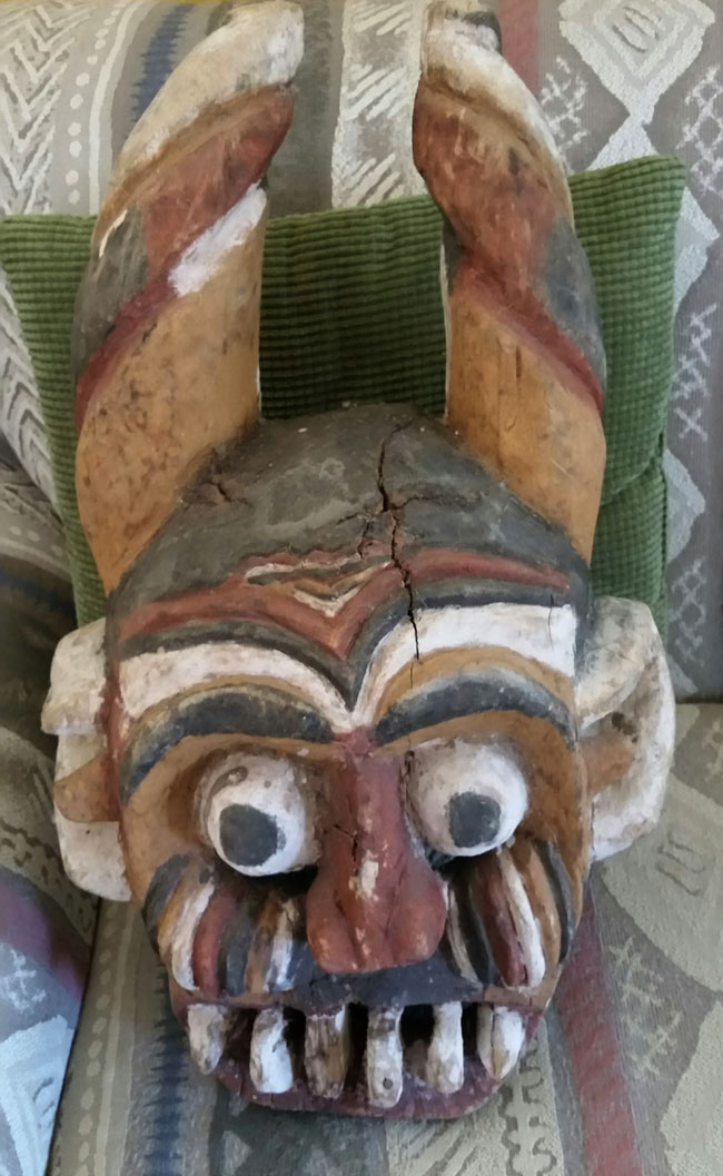 African tourist mask