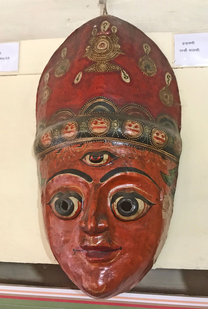 Old, used mask from Nepal