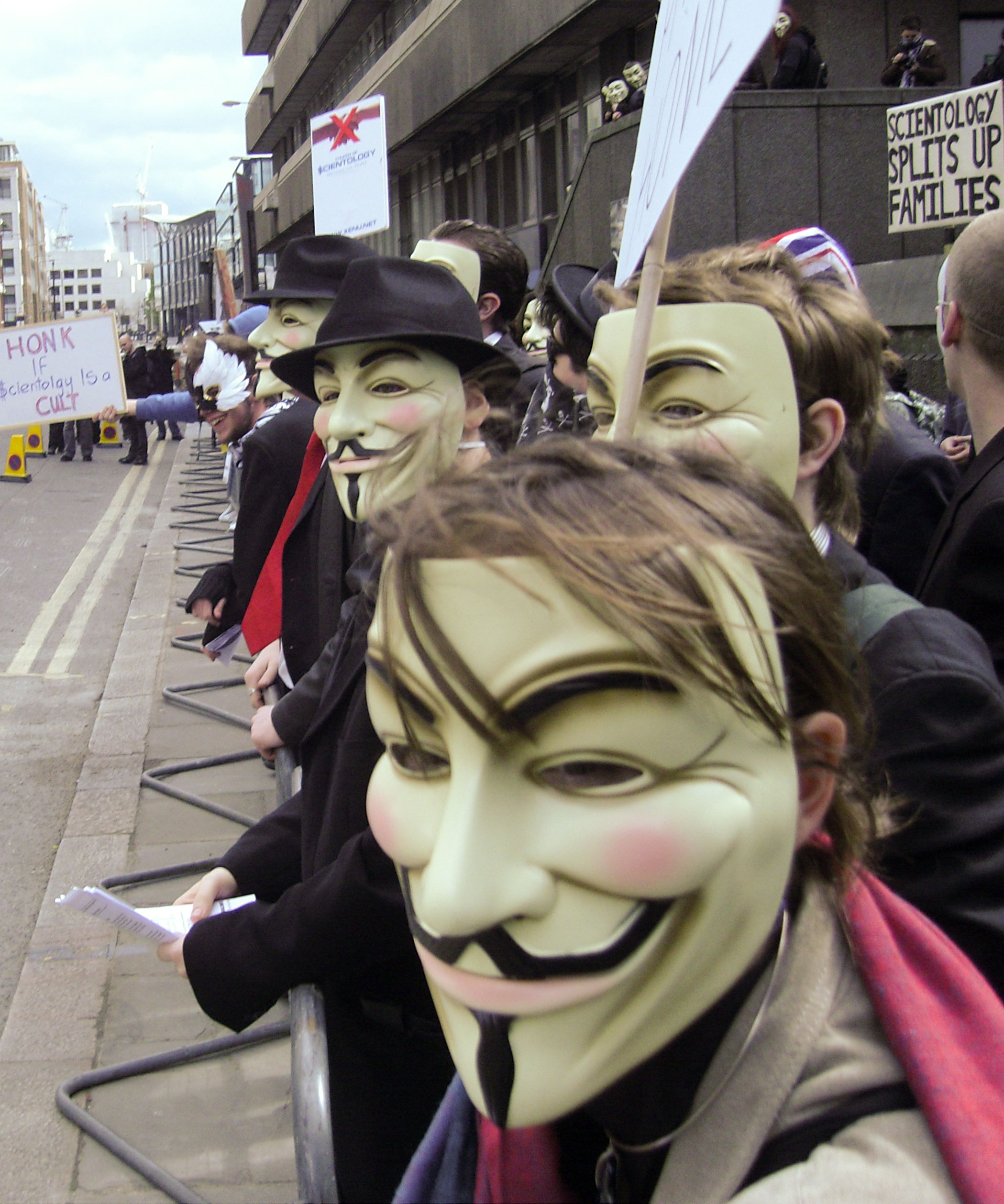 The famous Guy Fawkes mask