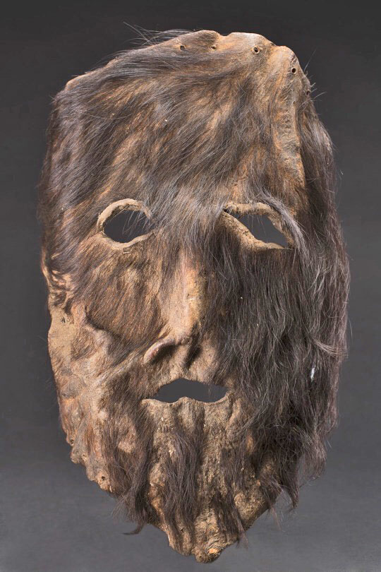 Hairy leather mask
