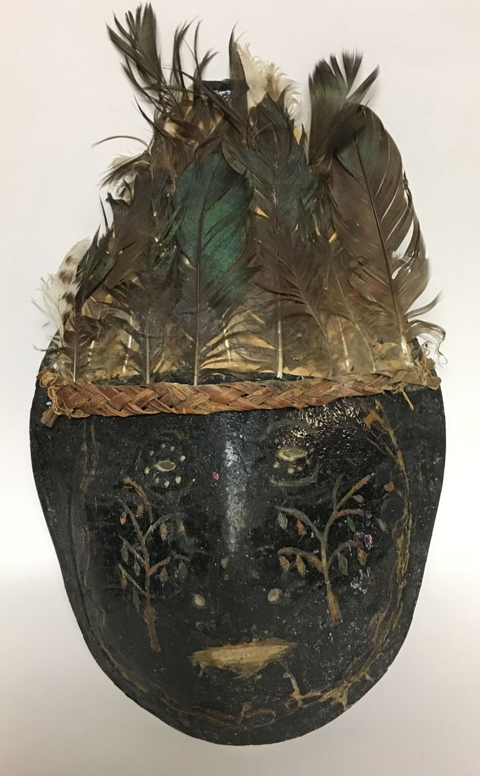 Mask made from a turtle shell
