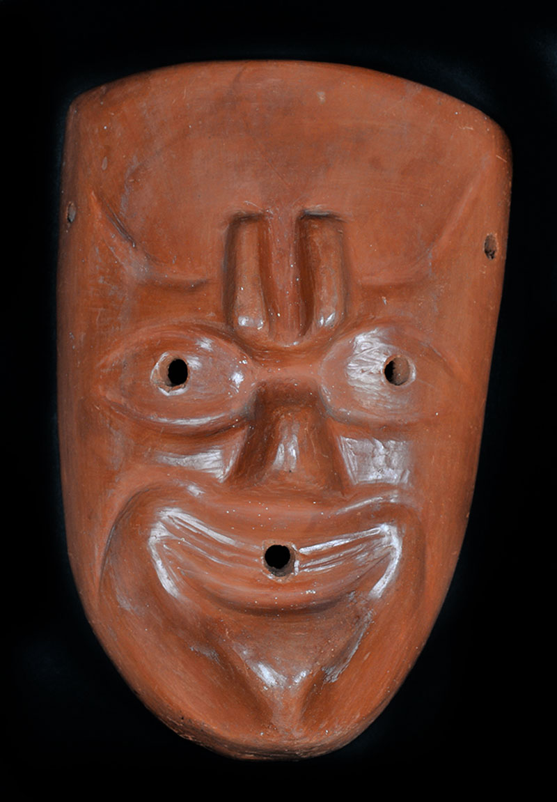 Mexican clay mask? Decorative or not?