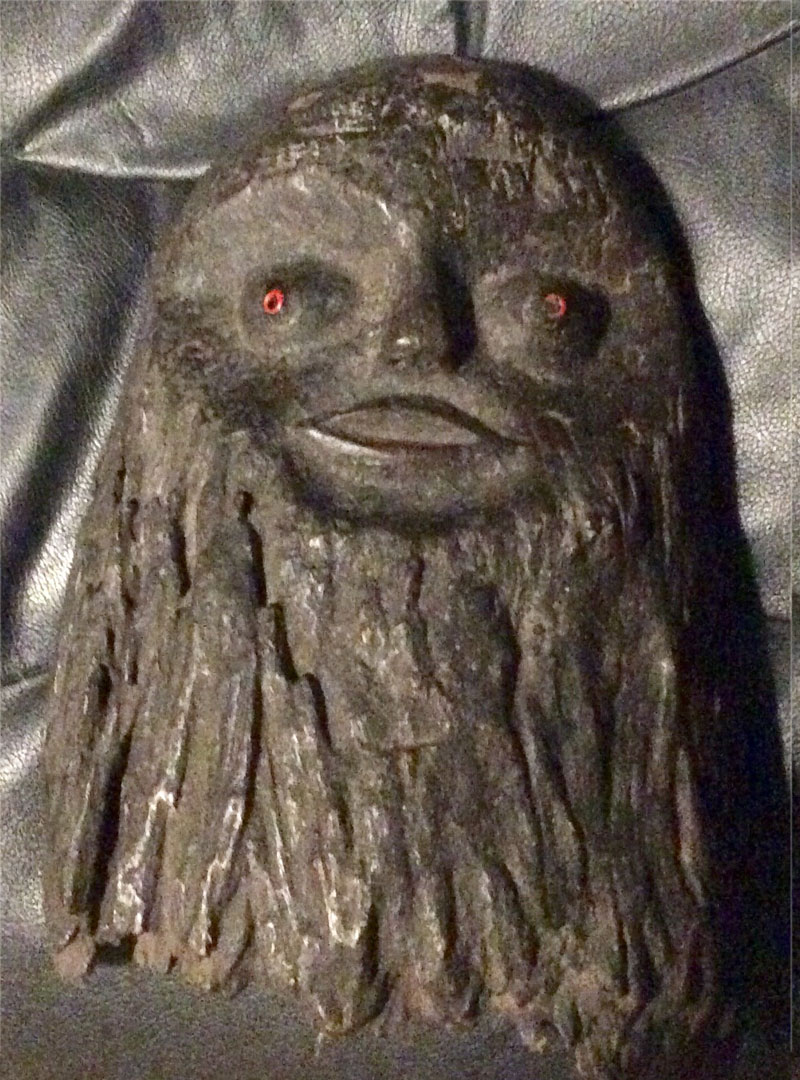 Old, wood Green Man mask