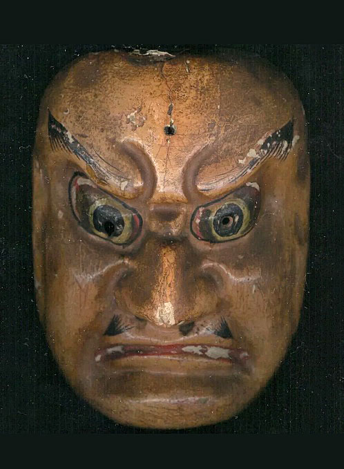 Old Noh theater mask