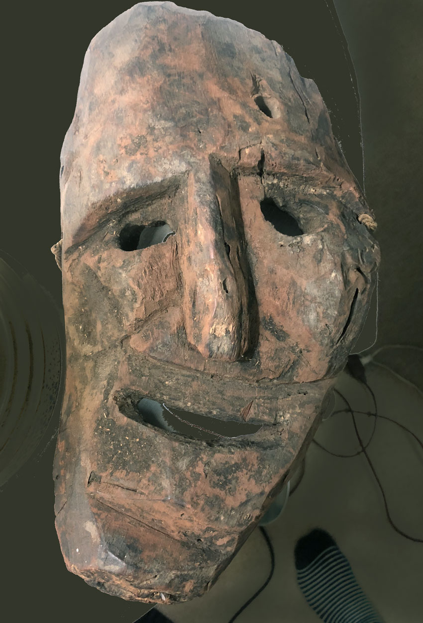 Primitive mask purchased in Goa