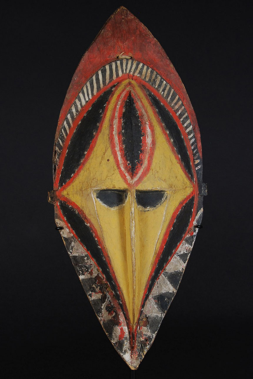Yellow yam mask from PNG
