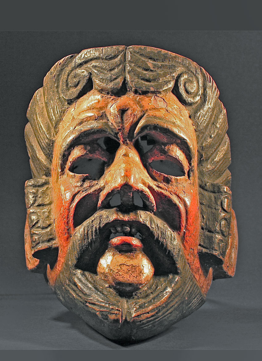 Popular mask of Pedro Alvarado