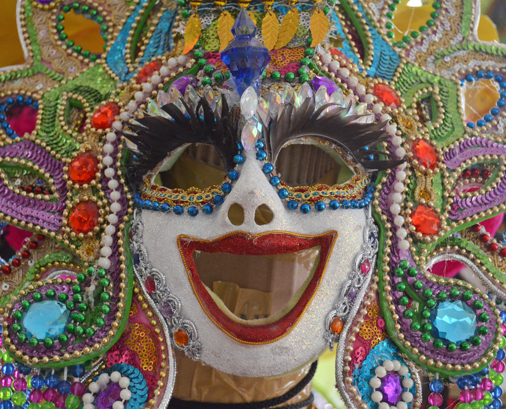 Carnaval mask, Bacolod, Philippines