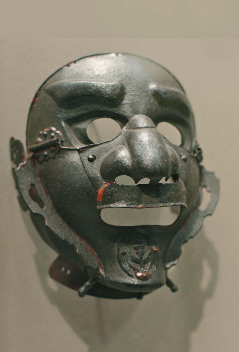 Samurai metal face mask
