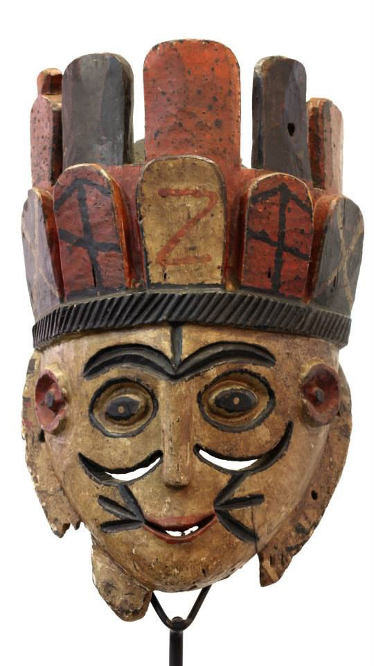 Old, used Urhobo mask, Nigeria