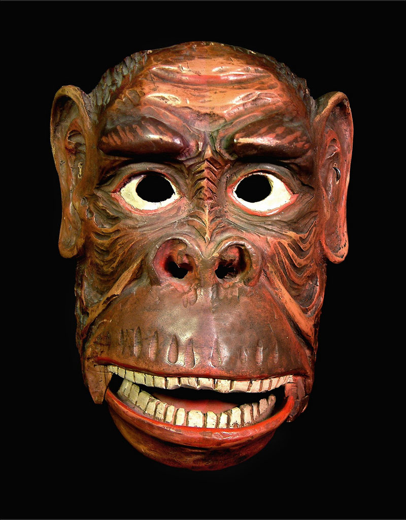 Rare chimpanzee mask from the Tyrol