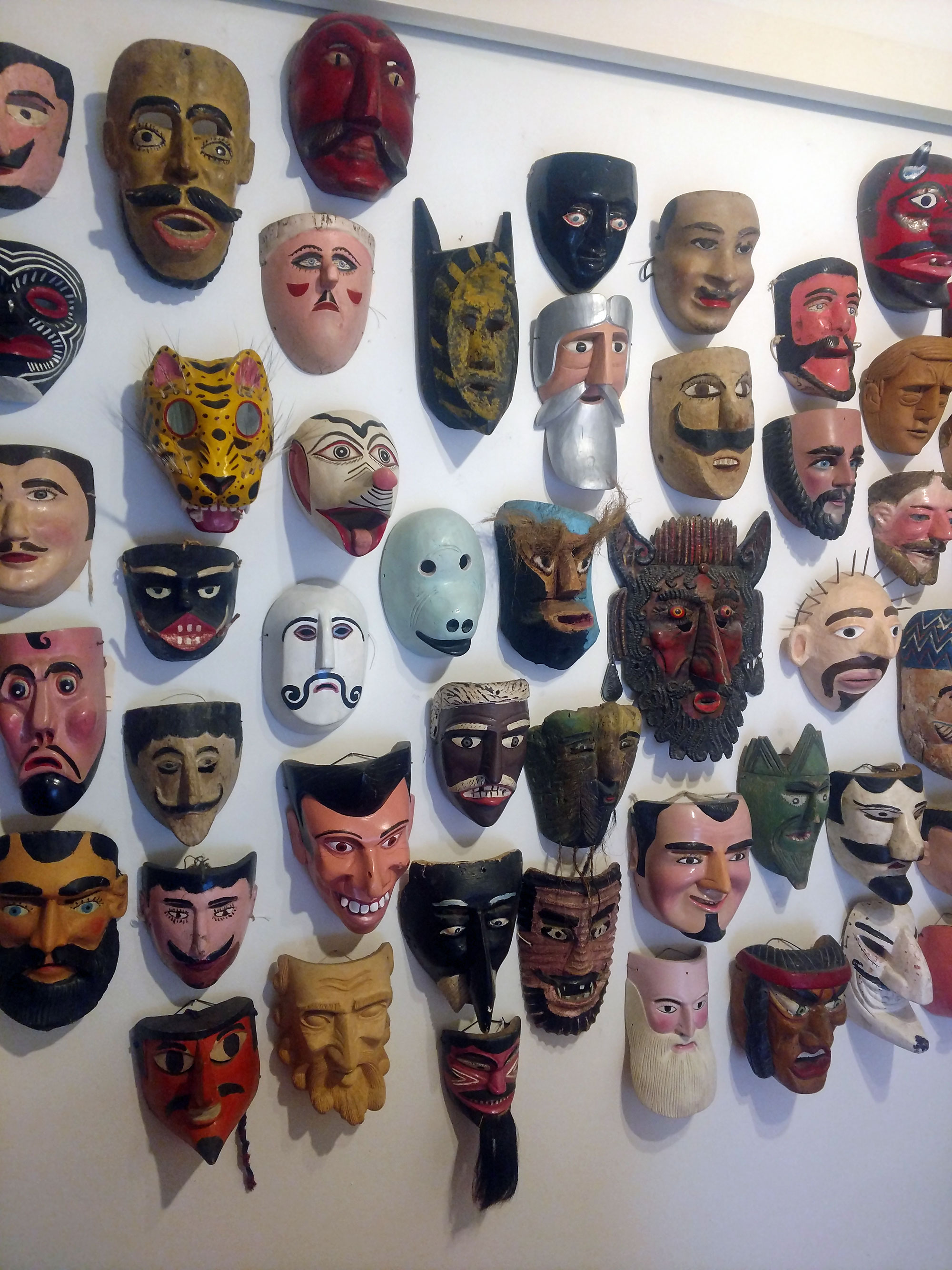 Mexican mask collection