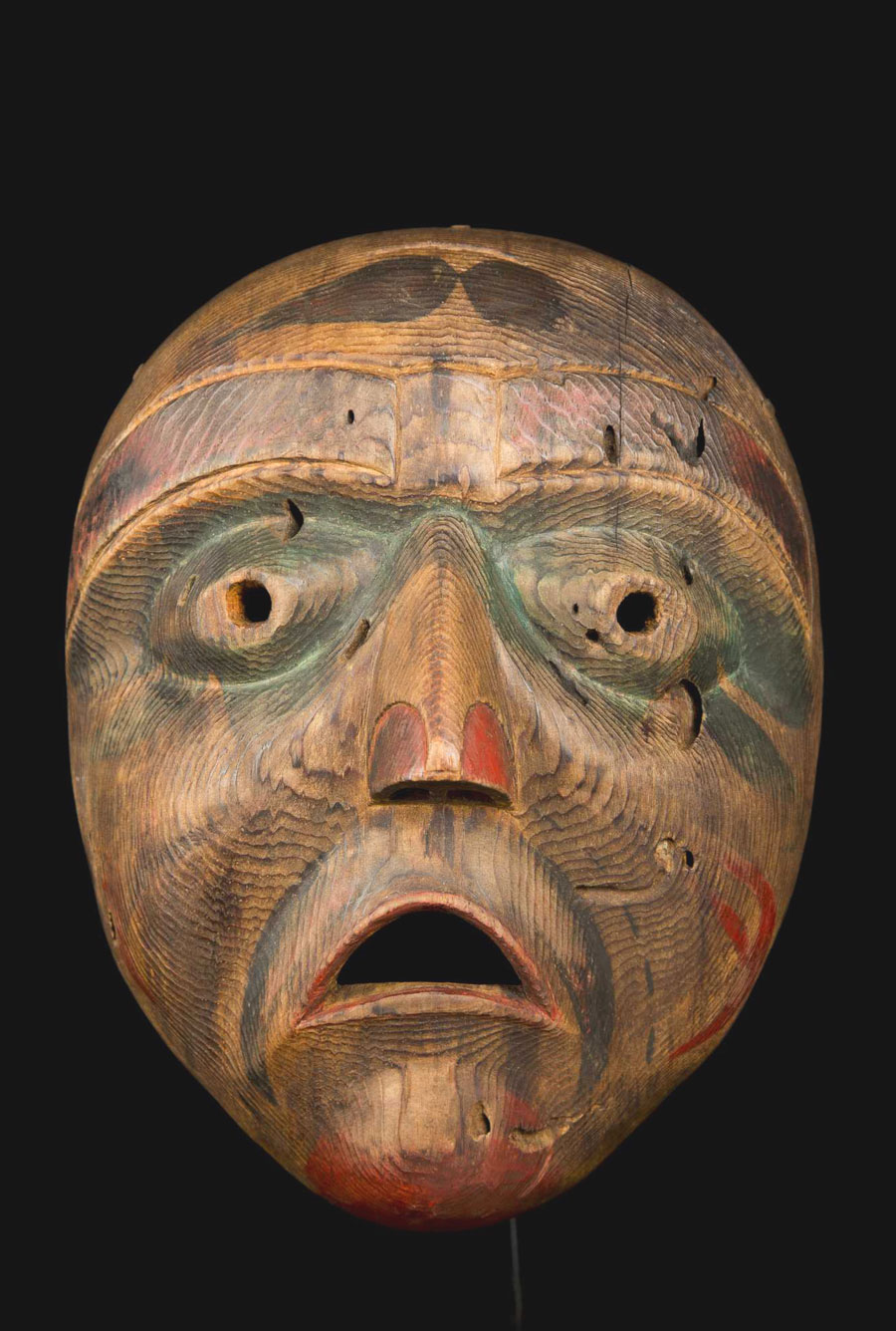 Old Bella Coola mask from the NWC