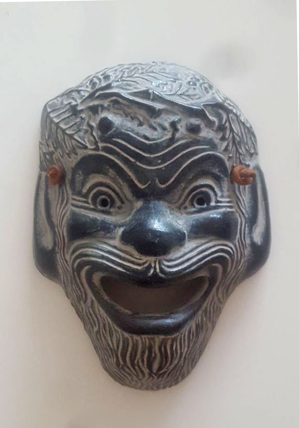 Small copy of ancient Japanese mask