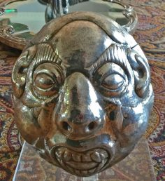 Old Bolivian funeral mask