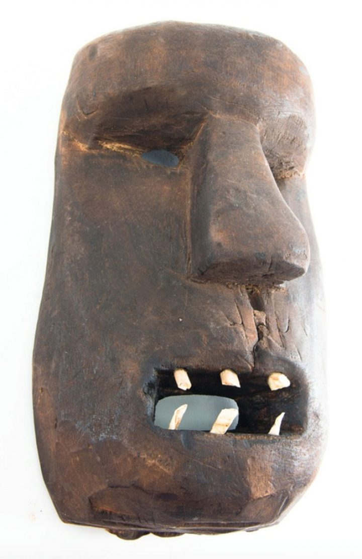 Carved wood Arctic mask