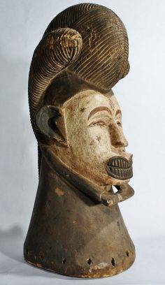 Punu crest mask or reliquary head