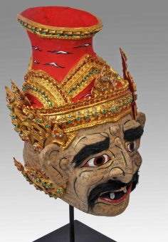 A Thai hermit mask rarely seen