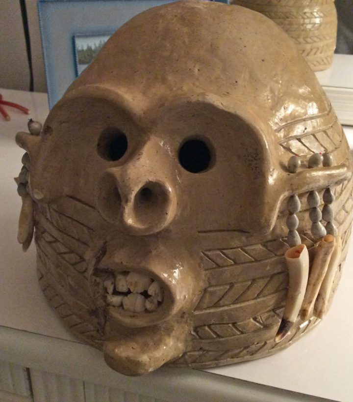 The famous PNG mud man mask