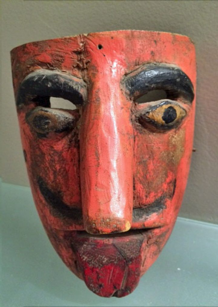 Charming old Mexican mask