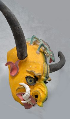 Bolivian Devil Mask with Lizard