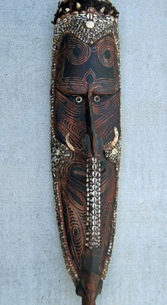 Classic mask from the Sepik River area