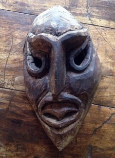 Primitive shaman's mask from the Himalayas