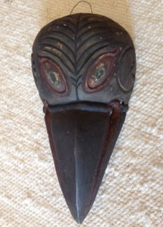 Unusual carved wood bird