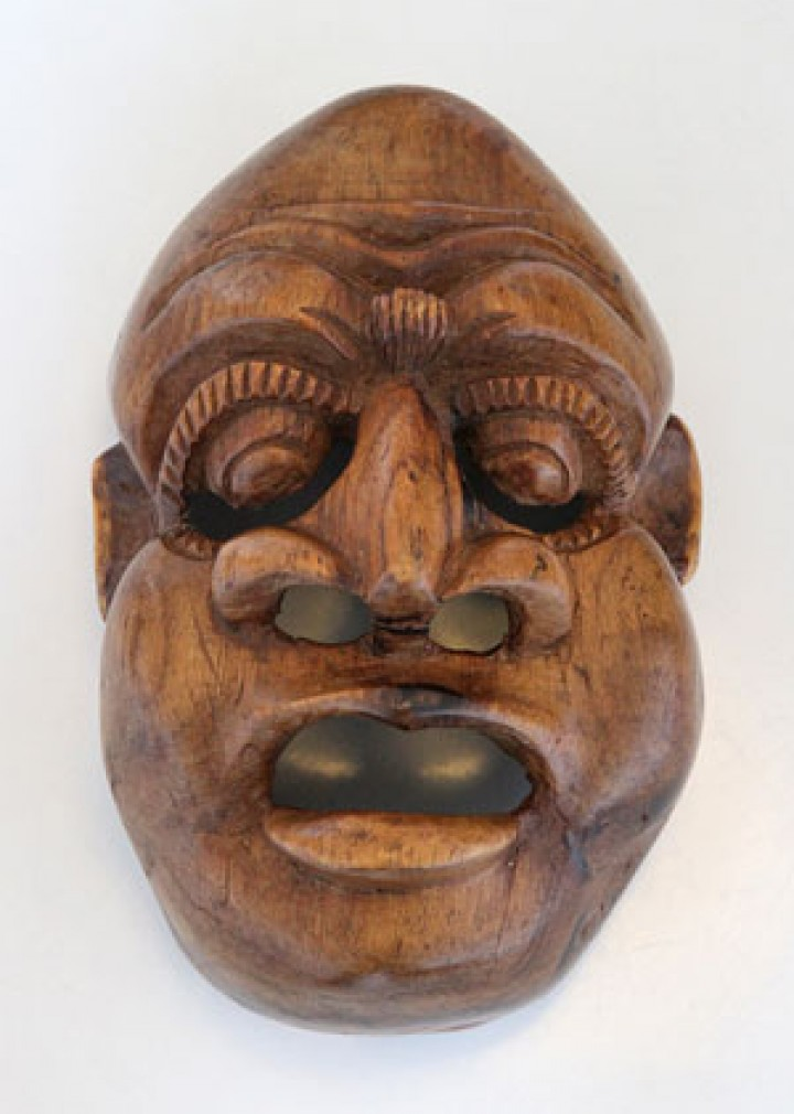 Mask carving in Bali
