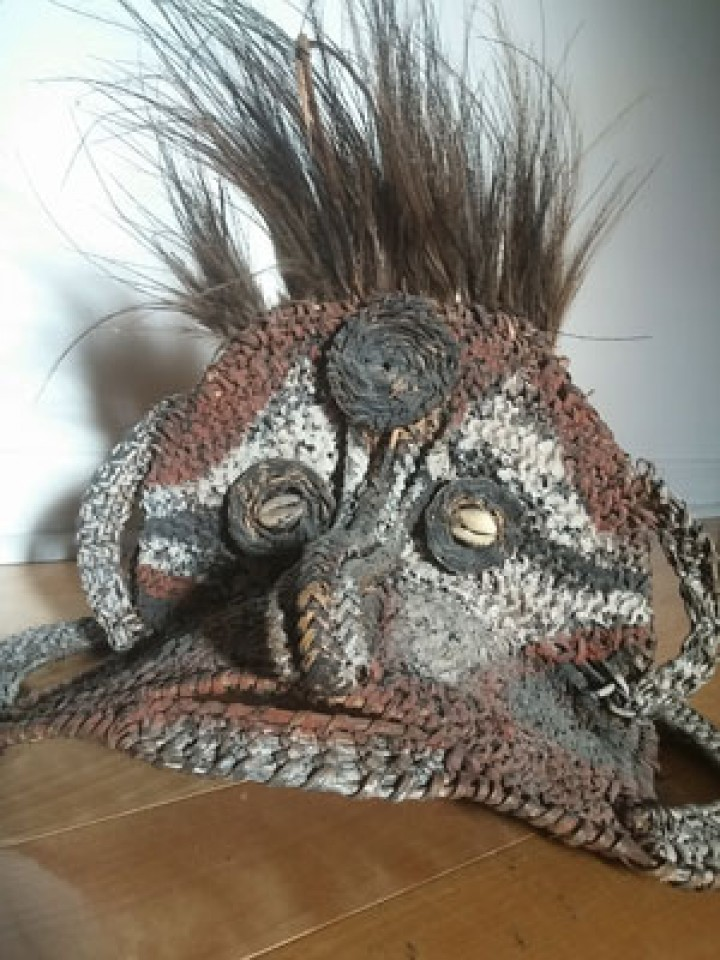 Unusual yam mask