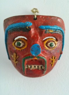 Old Peru wood mask