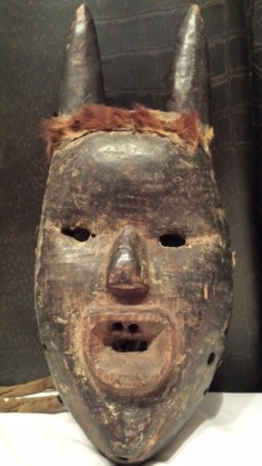 Authentic, used African mask