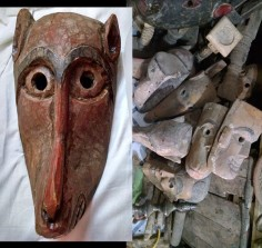 Masks from India or the Himalayas