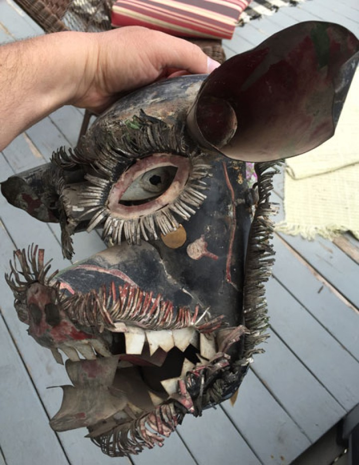 Wolf man mask from Mexico