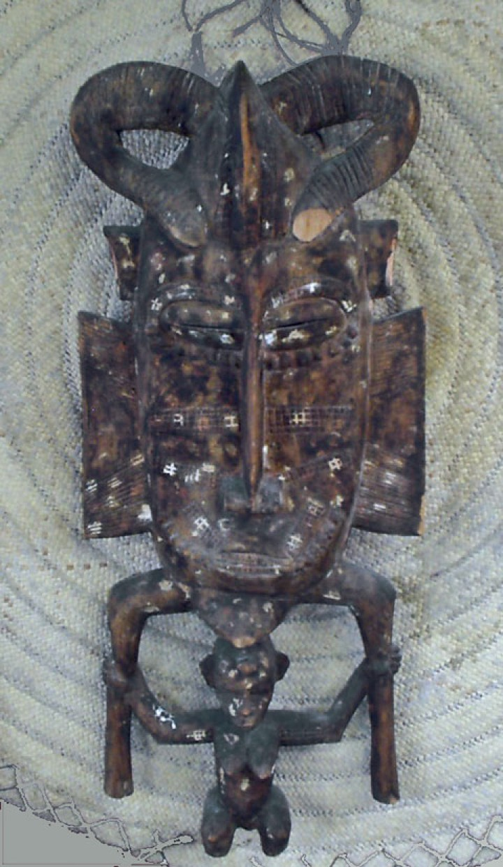 A version of the Senufo Kpelie mask